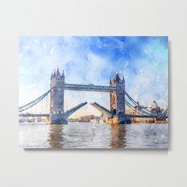 london-tower-bridge-bridge-england Metal Print