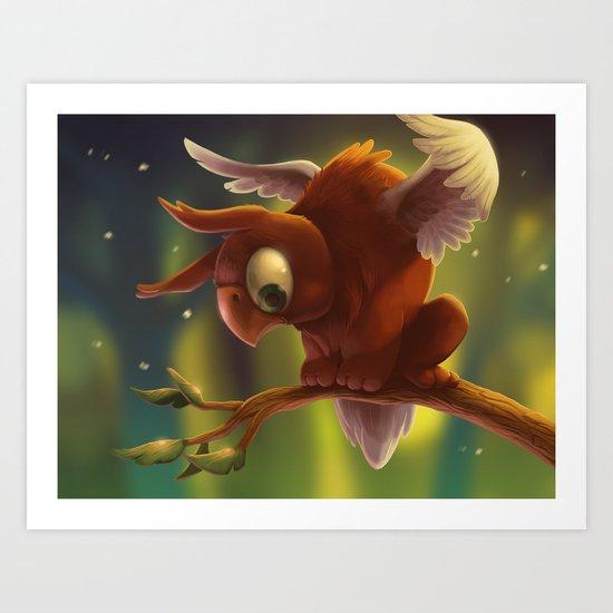 Baby Griffin Art Print