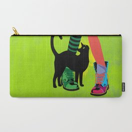black cat and boots Carry-All Pouch