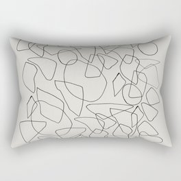 Abstract Stones, Minimalist Line Art Rectangular Pillow