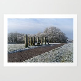 White Chasewater Country Park Art Print