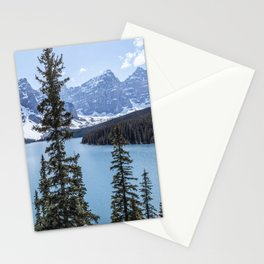 Landscape Lake Moraine Crystal Blue Waters Stationery Cards