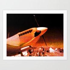 Achtung Spitfire! Art Print