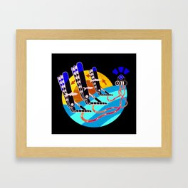 Oyster Wave Technology Framed Art Print