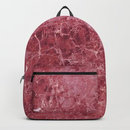 Colorful coral red marble Backpack