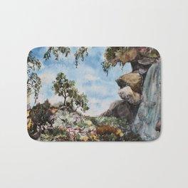 marbled landscape Bath Mat