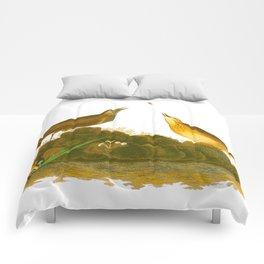 Brown Lark Bird Comforters