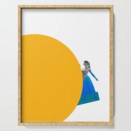 Bardot and the Yellow Circle Serving Tray