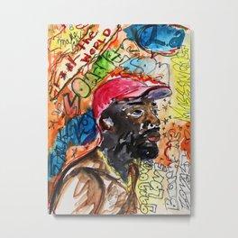 sonder son,brent faiyaz,poster,art,wall art,decor,music,rnb,lyrics,colourful,colorful,cool,dope,post Metal Print