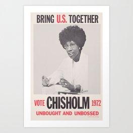 Vote Shirley Chisholm 1972 Art Print