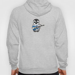 Baby Penguin Playing Salvadorian Flag Acoustic Guitar Hoody