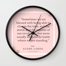 5   Audre Lorde Quote Feminist Literary Quotes Inspiring Feminism Motivational Poem Poetry Gifts Poe Wall Clock