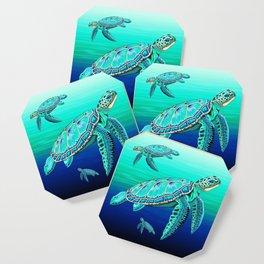 Sea Turtle Turquoise Oceanlife Coaster