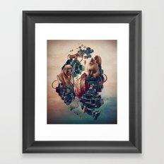 monkey temple Framed Art Print