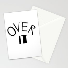 Over it Stationery Cards