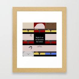 Maybe it's not the Destination that matters - square - Star Trek: Voyager VOY  trektangle minimalist Framed Art Print