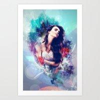 daria Art Prints featuring Daria by MariAngel