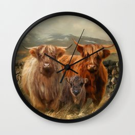 Hairy Coo's Wall Clock