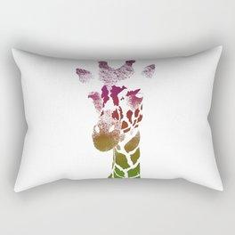 Girrafe (reds) Rectangular Pillow