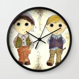 The Twins: Hugo & Harry Wall Clock