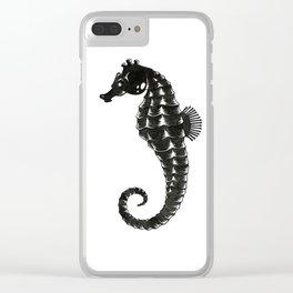 Sea Horse B/W Clear iPhone Case