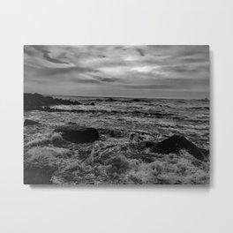 Black and White SEA Metal Print