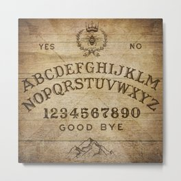 Ouija Board (Rustic Version) Metal Print