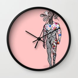 Naked as We Come Wall Clock