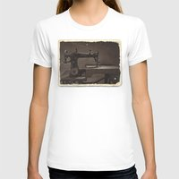 sewing T-shirts featuring Pfaff Sewing Machine by Rainer Steinke