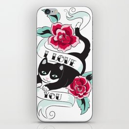 Tattoo Tux Cat iPhone Skin
