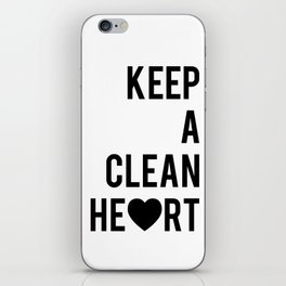 Typographic Quote Print In Black And White iPhone Skin