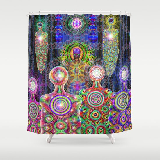 Calling The Gods Shower Curtain by alexzondro