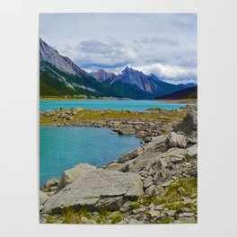 Medicine Lake in the Maligne Valley of Jasper National Park, Canada Poster