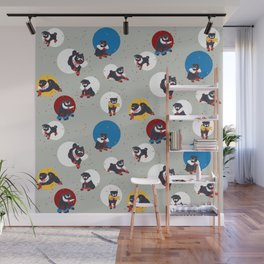 Pug Party Wall Mural