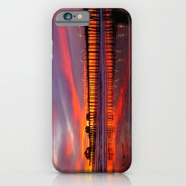 Sunset At The Pier * Huntington Beach, California iPhone Case