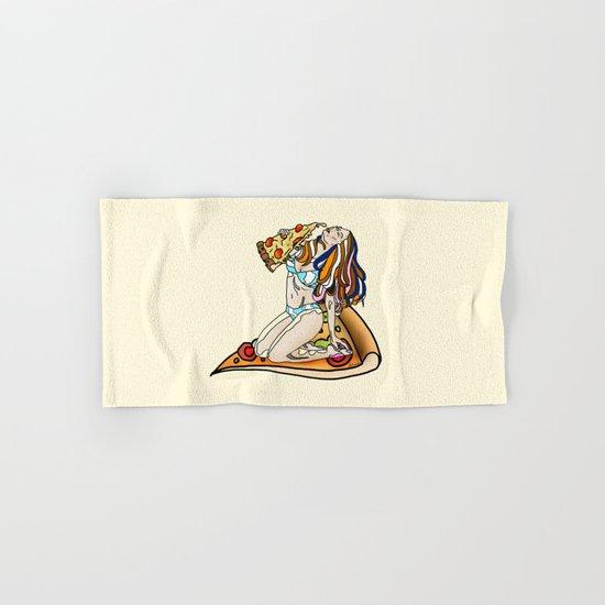 Pizza Girl Hand & Bath Towel