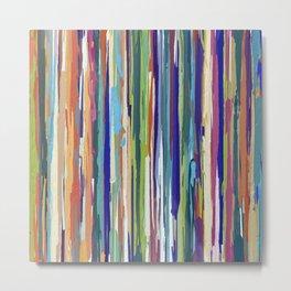 Multi-coloured Stripes 616 Metal Print