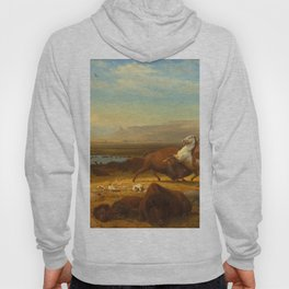The Last of the Buffalo, by Albert Bierstadt, 1888, American painting Hoody