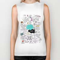 john green Biker Tanks featuring The Fault in Our Stars- John Green by Natasha Ramon