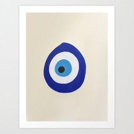 Blue Evil Eye Art Print