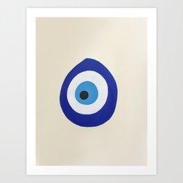 Blue Evil Eye Art Print