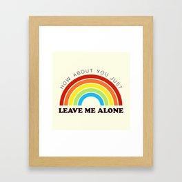 The Introvert's Plea - Classic Rainbow Framed Art Print