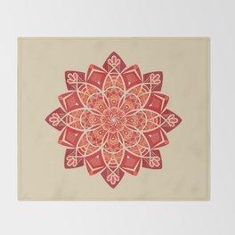 Sunny bright rays of floral mandala Throw Blanket