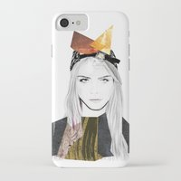 cara delevingne iPhone & iPod Cases featuring CARA DELEVINGNE by Nora Fikse