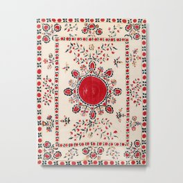 Tashkent Suzani Kokand Uzbekistan Embroidery Print Metal Print