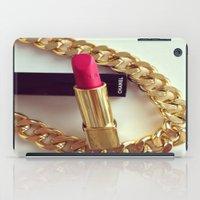 lipstick iPad Cases featuring LIPSTICK by I Love Decor