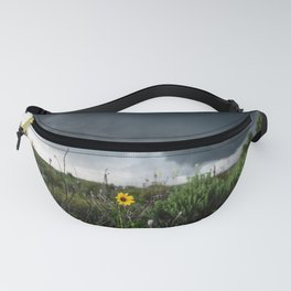 Stormflower - Sunflower and Storm in Texas Fanny Pack
