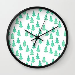 Christmas Tree Forest Wall Clock