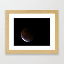 Supermoon Eclipse 6 Framed Art Print