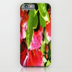 Vibrant pink and red flowers iPhone 6s Slim Case